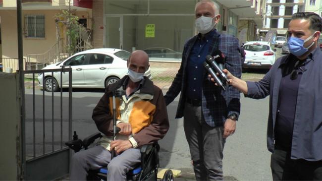 Çekmeköy Belediyesi tekerlekli sandalyesi çalınan vatandaşa duyarsız kalmadı