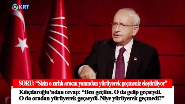 """CHP Lideri Kemal Kılıçdaroğlu, """"Ben geçtim, o da gelip geçseydi"""""""