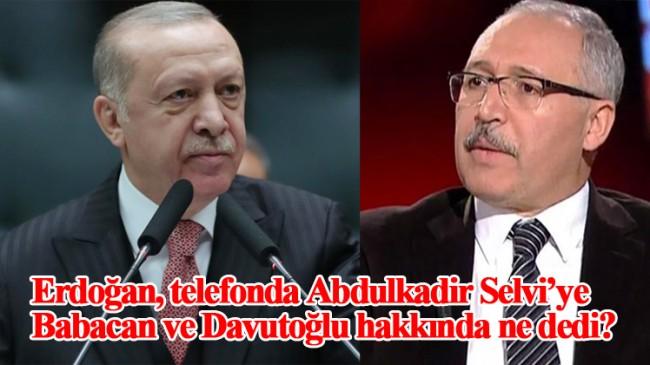 Cumhurbaşkanı Erdoğan, gazeteci Abdulkadir Selvi ile telefonda görüştü