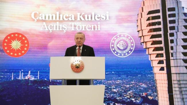 Erdoğan, Çamlıca Kulesini hizmete açtı