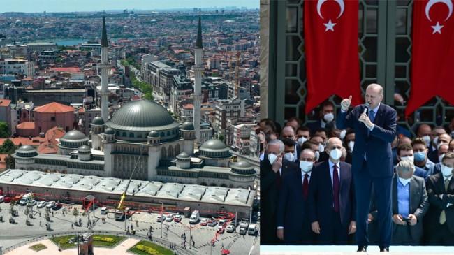 Erdoğan, Taksim Camii'ni İstanbul'un Fethinin 568. yıl dönümünde açtı