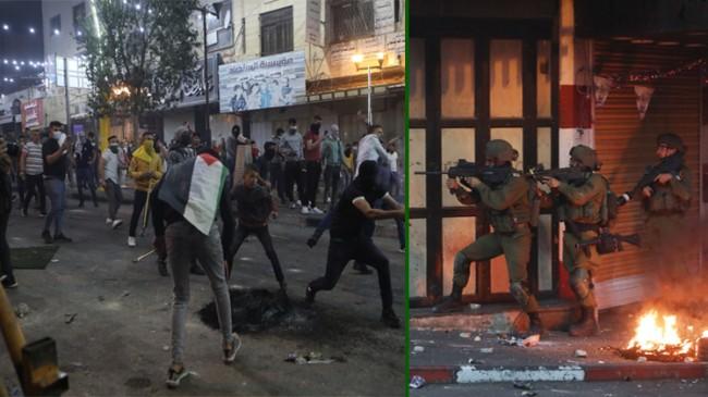 İşgalci İsrail'den Filistinli göstericilere ses ve gaz bombalı müdahale