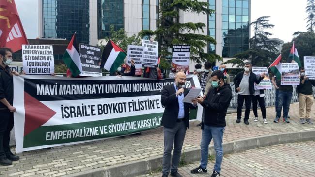 İsrail'e Mavi Marmara Protestosu