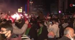 İstanbullulardan İsrail başkonsolosluğu önünde protesto eylemi