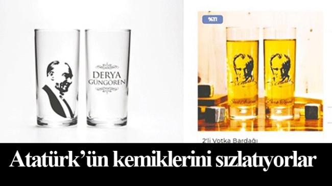 Kemalistler, 2 liralık rakı bardağına Atatürk görseli kullanıp 80 liraya satıyor!