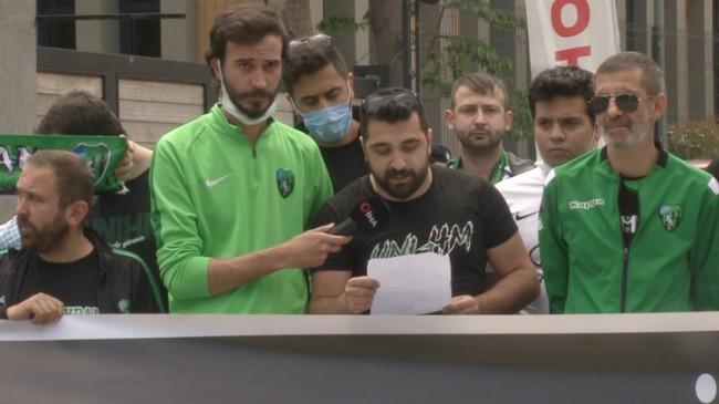 Kocaelispor ve Sakaryaspor taraftarı TFF Başkanı Nihat Özdemir'e sesleniyor