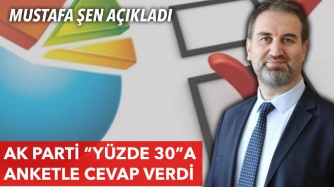 """Mustafa Şen, """"AK Parti'nin oy oranı CHP'nin oy oranın 17 puan üzerinde"""""""