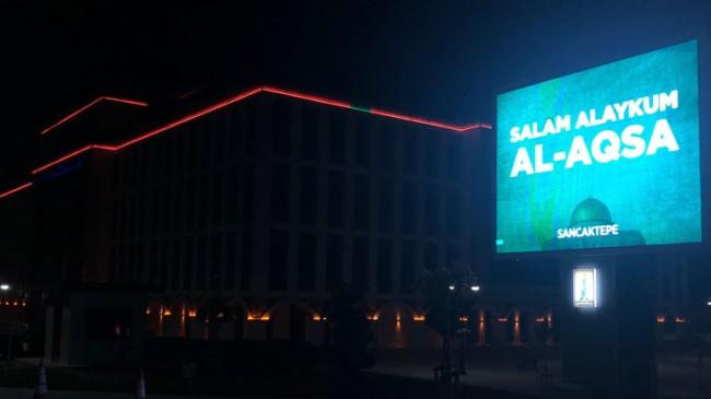 """Sancaktepe'den Salam Alaykum AL-AQSA"""" mesajıyla Filistinlilere destek"""