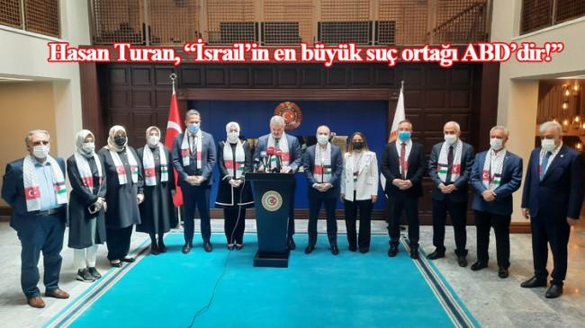 TBMM Türkiye-Filistin Dostluk Grubu üyelerinden İsrail'e tepki