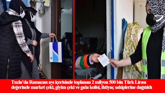 Tuzla Belediyesi, ihtiyaç sahibi ailelerin yüzünü güldürmeye devam ediyor