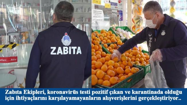 Tuzla Belediyesi Zabıta Ekipleri, evinden çıkamayanların alışverişlerini yapıyor