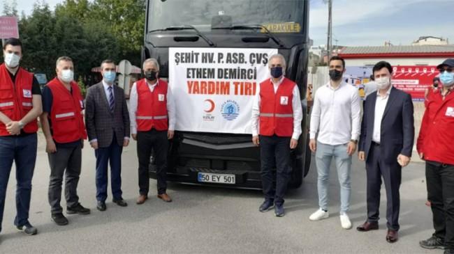 Tuzla'dan yardım tırı, Afrin'in Cinderesi'ne ulaşmak üzere yola çıktı