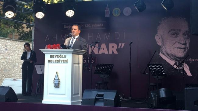 Ahmet Hamdi Tanpınar Beyoğlu'nda anıldı