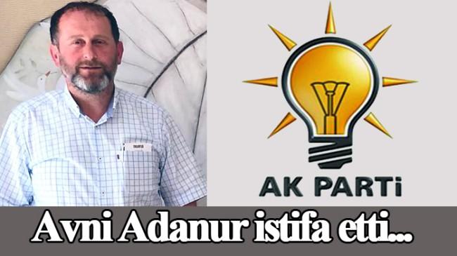 AK Parti'li ilçe başkanı istifa etti