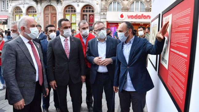 Başkan Yıldız, İstiklal Caddesi'nde 'Kızılay 153 Yaşında' sergisini açtı