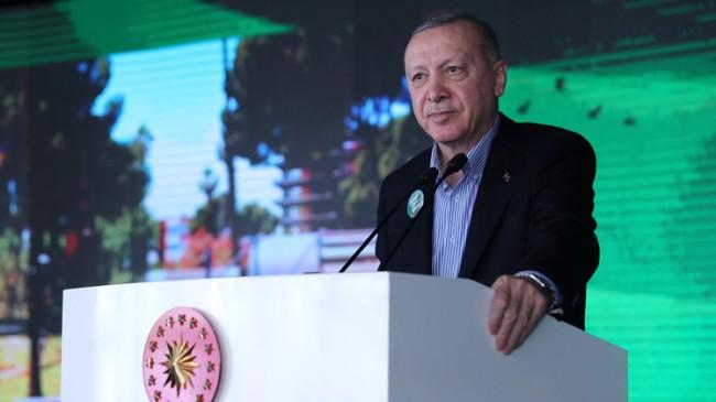 """Erdoğan, """"İçinde bulunduğumuz Pendik Millet Bahçesi tek kelime ile muhteşem"""""""