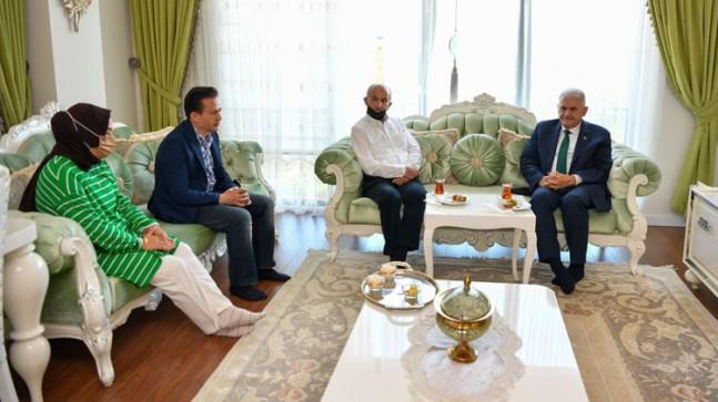 AK Parti Genel Başkanvekili Binali Yıldırım'dan Yazıcı'ya taziye ziyareti