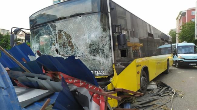İETT otobüsünün fireni boşalmış