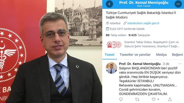 İl Sağlık Müdürü Memişoğlu'ndan İstanbullulara sevindirici haber