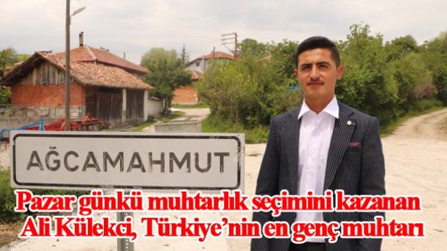 Türkiye'nin en genç muhtarı