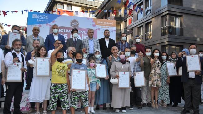 Üsküdar Belediyesi Arguvan Evleri'nin hak sahipleri dairelerine kavuştu