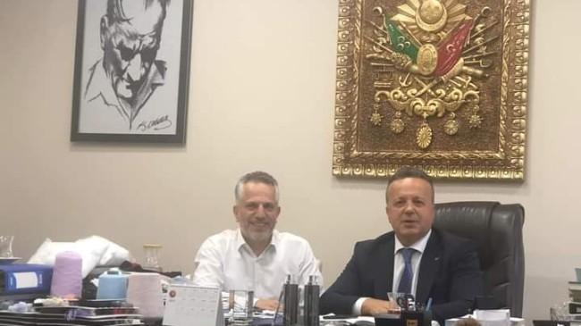 TİM Başkanı İsmail Gülle, Ateş İpliğin Sahibi Bekir Taner Ateş'i ziyaret etti