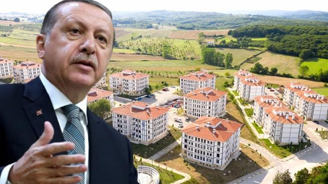 """Erdoğan, """"1 milyon""""uncu TOKİ konutunu sahibine teslim etti"""