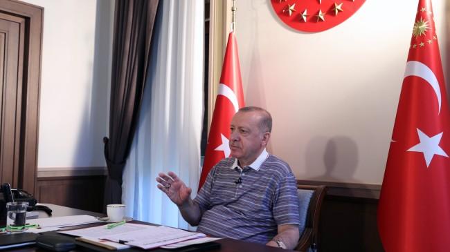 Cumhurbaşkanı Erdoğan: 'Biz olumlu cevap vermediğimiz sürece Güney Kıbrıs NATO'ya giremez'