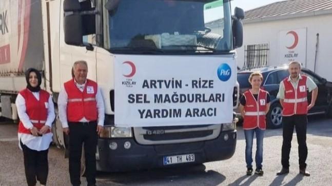 Türk Kızılay Tuzla Şubesi'nden, Rize ve Artvin sel mağdurlarına yardım eli