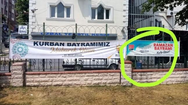 CHP Küçükçekmece, Kurban Bayramı'nda Ramazan Bayramını kutladı!
