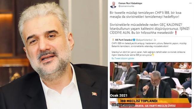 "Kabaktepe'den İBB'ye ""sivrisinek"" tepkisi"