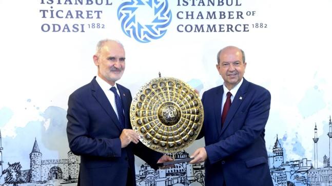 KKTC Cumhurbaşkanı Ersin Tatar'dan İstanbul Ticaret Odası'na ziyaret