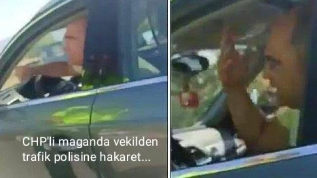 CHP'li vekil Turan Aydoğan, trafik polisine hakaret yağdırdı!
