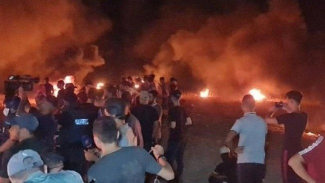 Aşağılık İsrail Gazzelilere saldırdı