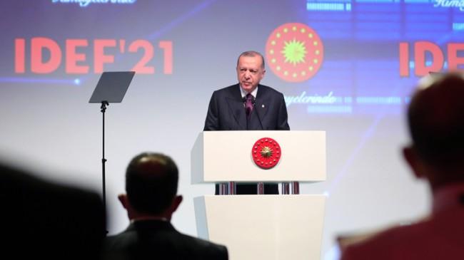 """Erdoğan, """"Türkiye son 19 yılda savunma sanayinde adeta bir devrim gerçekleştirdi"""""""