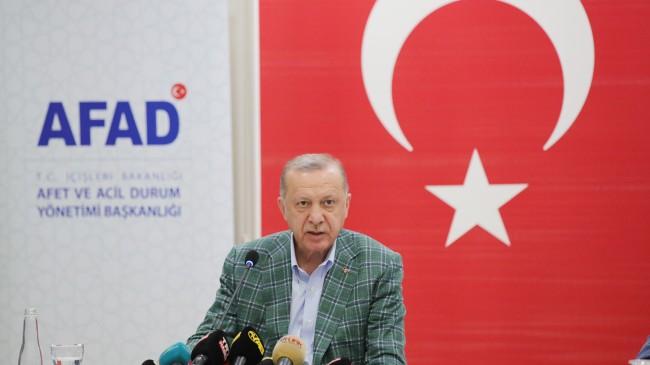 """Erdoğan: """"Ülkemizi asla çöle teslim etmeyeceğiz, kurak bırakmayacağız"""""""