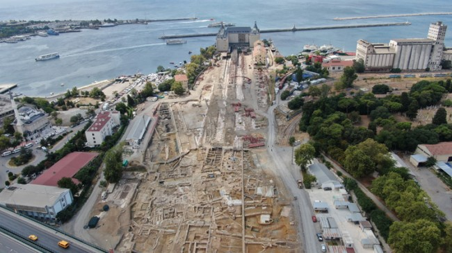 Haydarpaşa Garı çevresinde Khalkedon Antik Şehri çalışmaları sürüyor