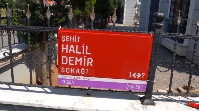 İdlib Şehidi Halil Demir'in ismi Tuzla'da yaşatılıyor