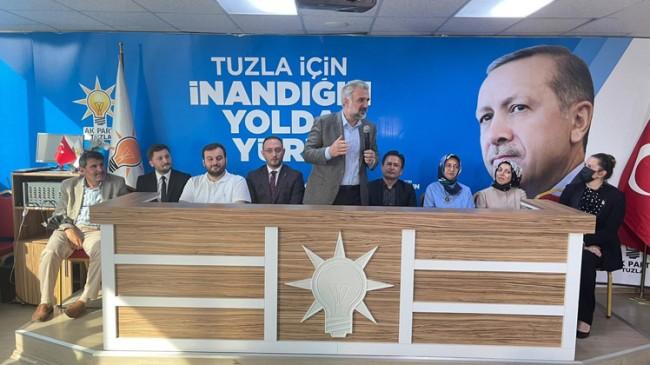 """İl Başkanı Kabaktepe, """"Tuzla hem belediye hem de teşkilatıyla emin ellerde"""""""