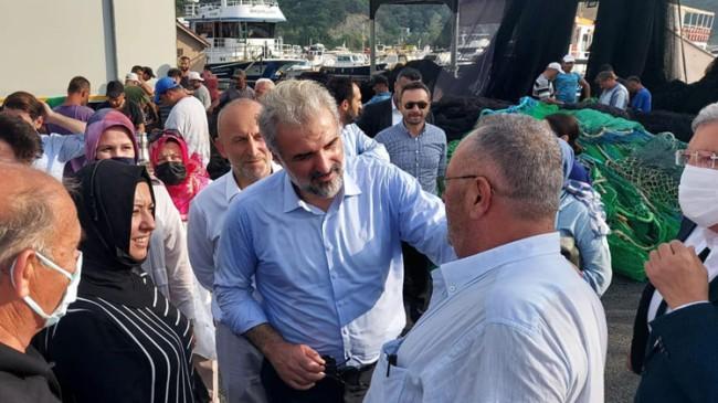 İstanbul İl Başkanı Kabaktepe, Beykozlu balıkçıları ziyaret etti