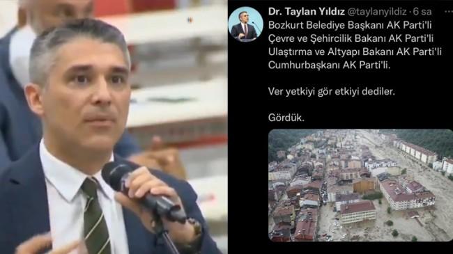 İYİ Parti'nin tetikçisi Taylan Yıldız, Bozkurt selini Erdoğan ve AK Parti'ye bağladı!