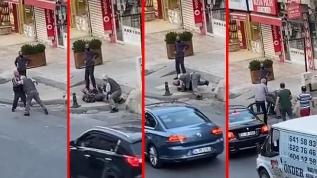 Ümraniyeli iki yaşlı vatandaşın tekme tokat kavgası kısa sürdü