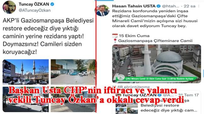 """Başkan Usta, """"Camimizin açılışına sizi hususi olarak davet ediyorum Tuncay Bey"""""""