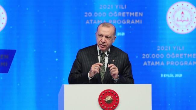 """Cumhurbaşkanı Erdoğan: """"Okullarımızı açık tutmakta, çocuklarımıza en iyi eğitim vermekte kararlıyız"""""""