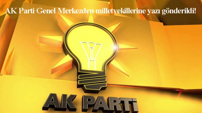 AK Parti'de önemli gelişme oldu