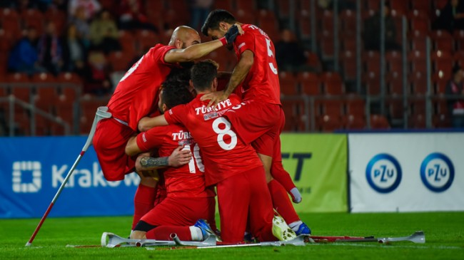 Ampute Futbol Milli Takımımız ikinci kez Avrupa Şampiyonu