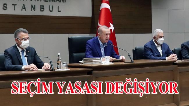 """Cumhurbaşkanı Erdoğan, """"Hazırladığımız Seçim Yasası'nı meclise göndereceğiz"""""""