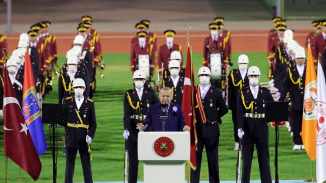 """Cumhurbaşkanı Erdoğan, """"Tarihi zaferlerimiz arasında ayrım yapmadık, yapmıyoruz"""""""