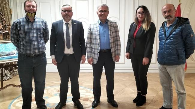 Gelecek Partisi'nden Hilmi Türkmen'e ziyaret