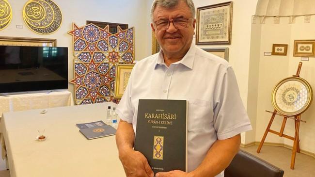 Mimar Nakkaş İrteş, Karahisari Kur'an-ı Kerim tezhipleri bir ciltte topladı